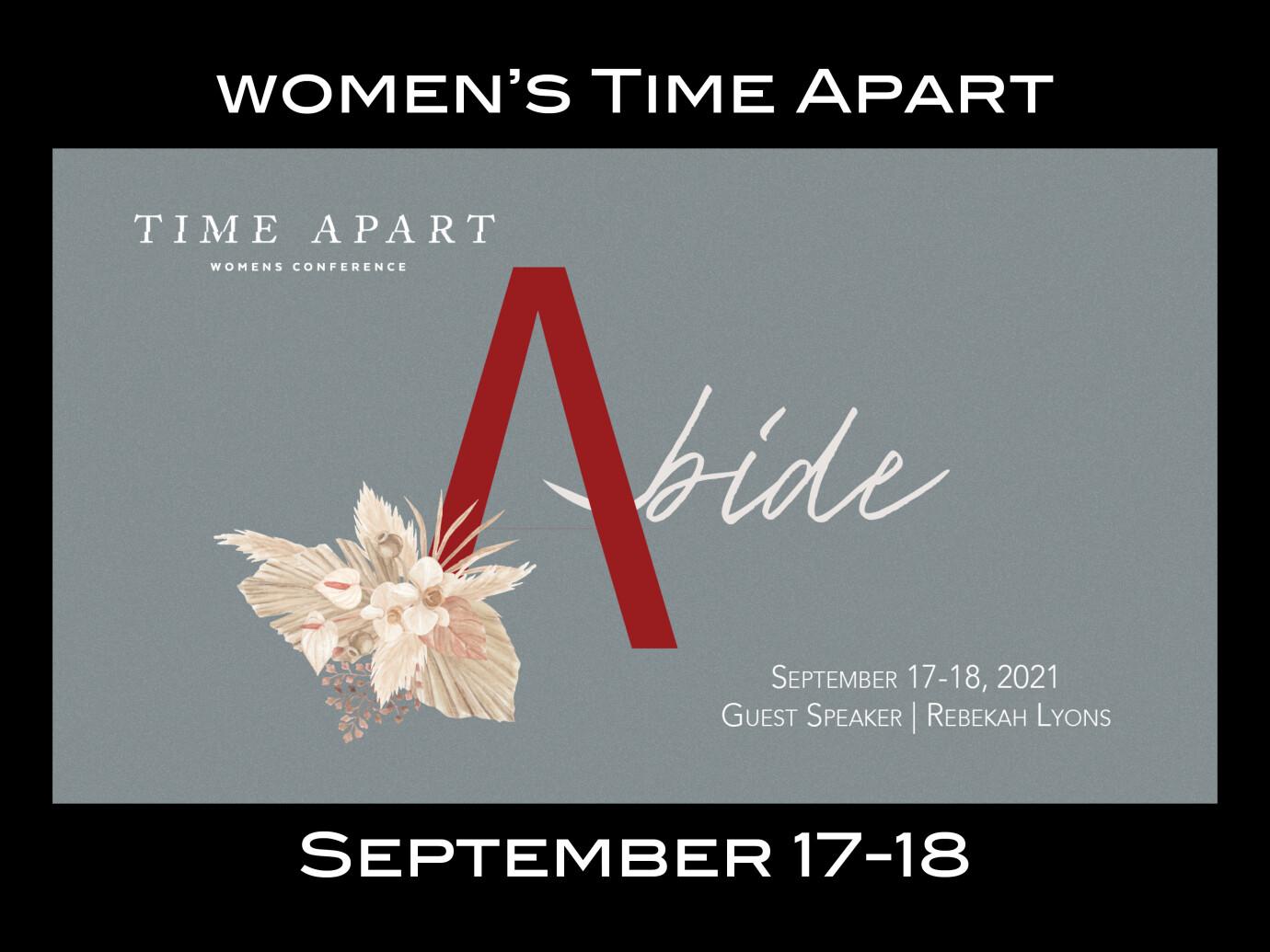 Ladies Time Apart